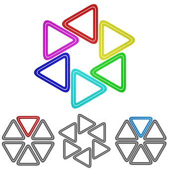 Triangle Logo Vector Icon Circular