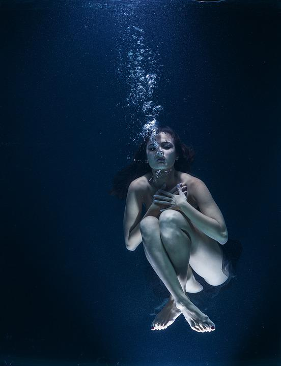 Water, Underwater, Nightmare, Air, Breath, Art