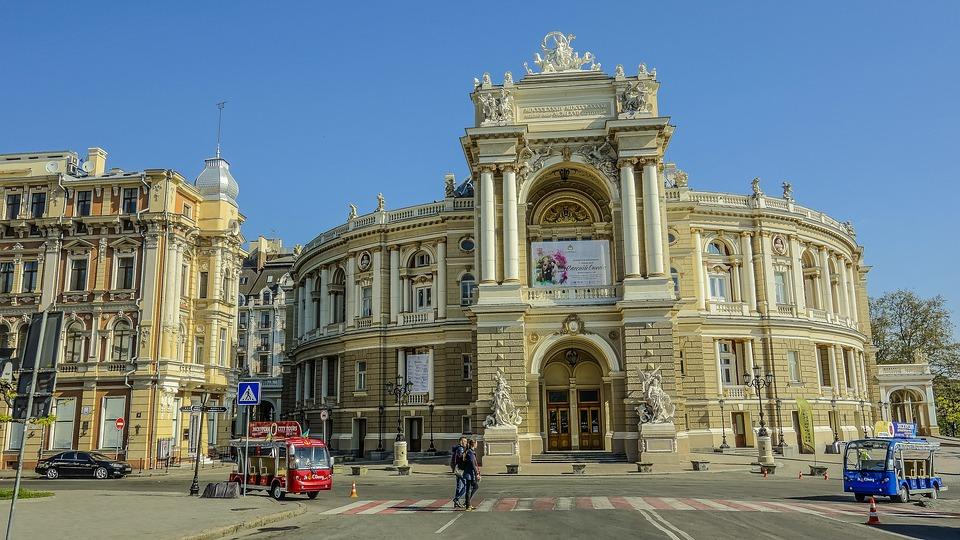 Одесса, Театр, Утро, Небо