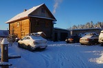 house, winter, village