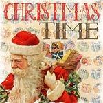 christmas, vintage, santa