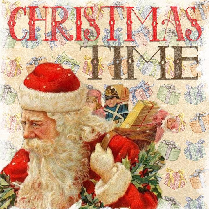 christmas vintage santa free image on pixabay. Black Bedroom Furniture Sets. Home Design Ideas