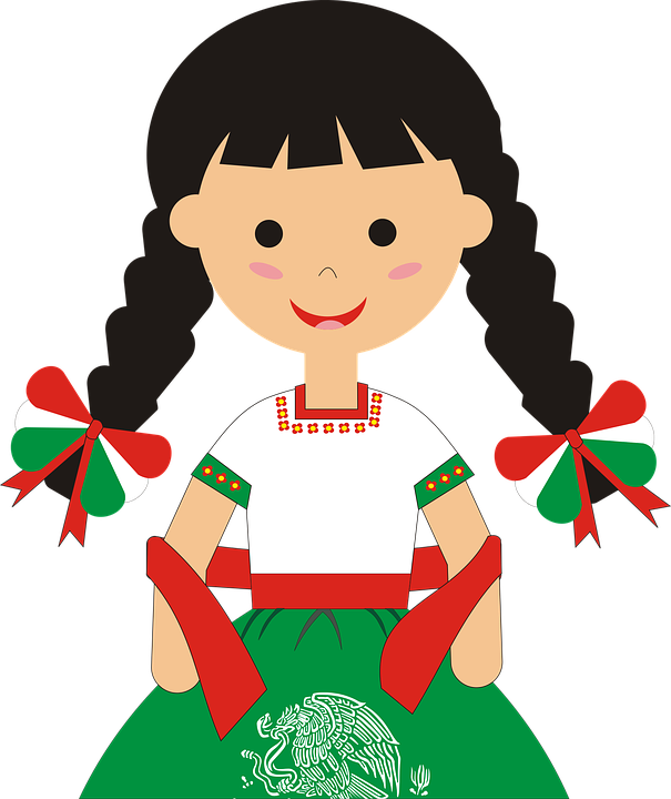 Mexico China Poblana Typical Dress · Free vector graphic ...
