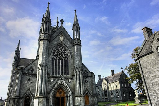 修道院, アイルランド, 教会, 宗教, アイルランド語, 石, 建物, 自然