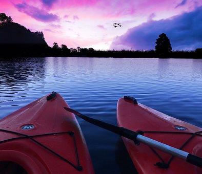 Kayaks, Kayaking, Water, Sport, Summer