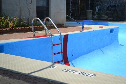 Pool, Water, Empty Pool, Deep, Feet