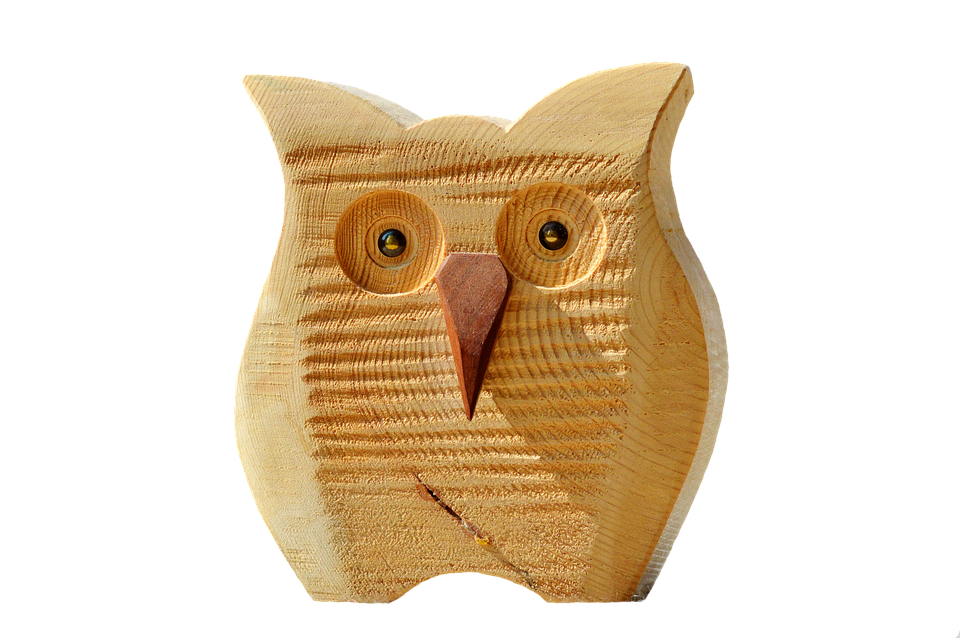 Owl Wood Deco Decoration Bird