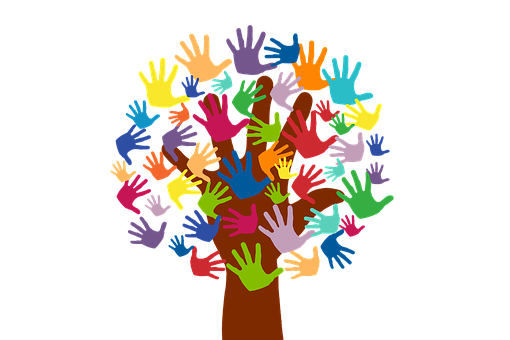 Volunteers, Hands, Tree, Grow, Voluntary