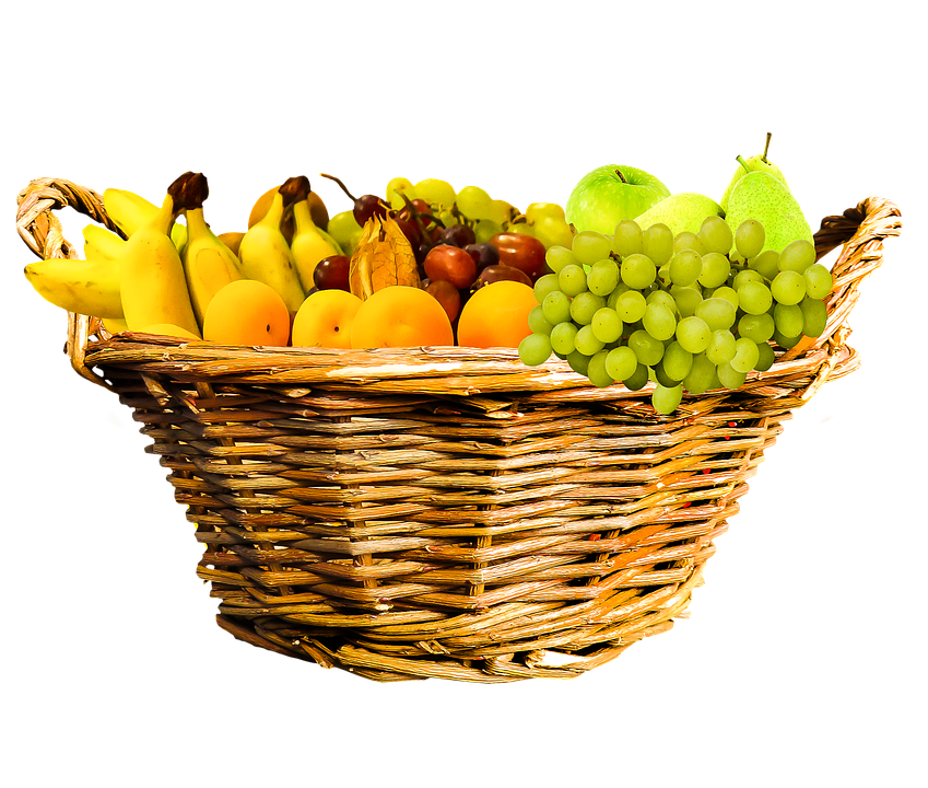Comer, Los Alimentos, Frutas, Cesta De Frutas, Cesta