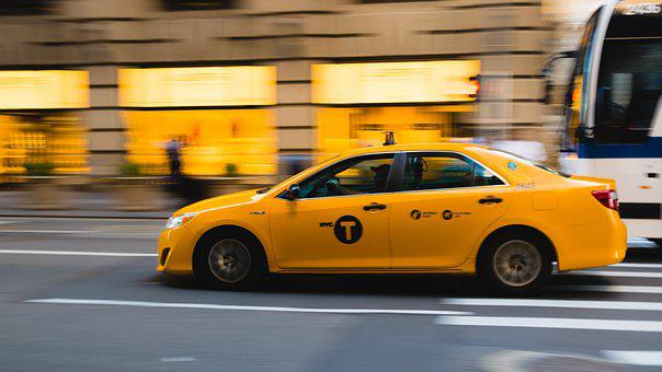 Taxi, Nueva York, Taxi Amarillo, Nyc