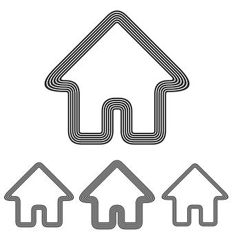 Hustegn er vanlige ikoner for hjemmeside design.