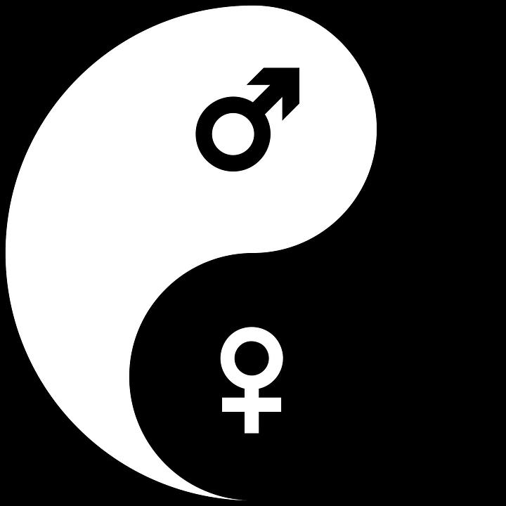 Yin, Yang, Jongen, Embleem, Geslacht, Icon, Insignia