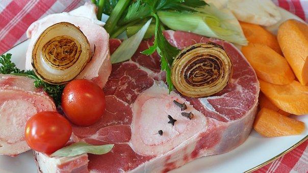 牛肉, 肉, スープ, ブイヨン, 牛肉のスープ, 骨, 髄骨, 肉のスープ
