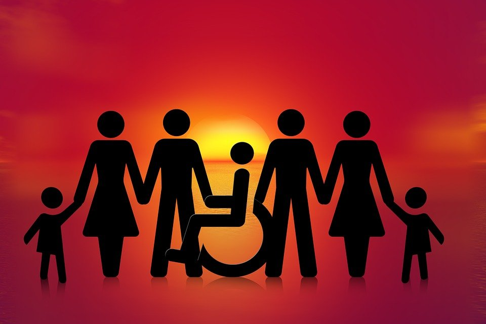 Inclusión, Grupo, Silla De Ruedas