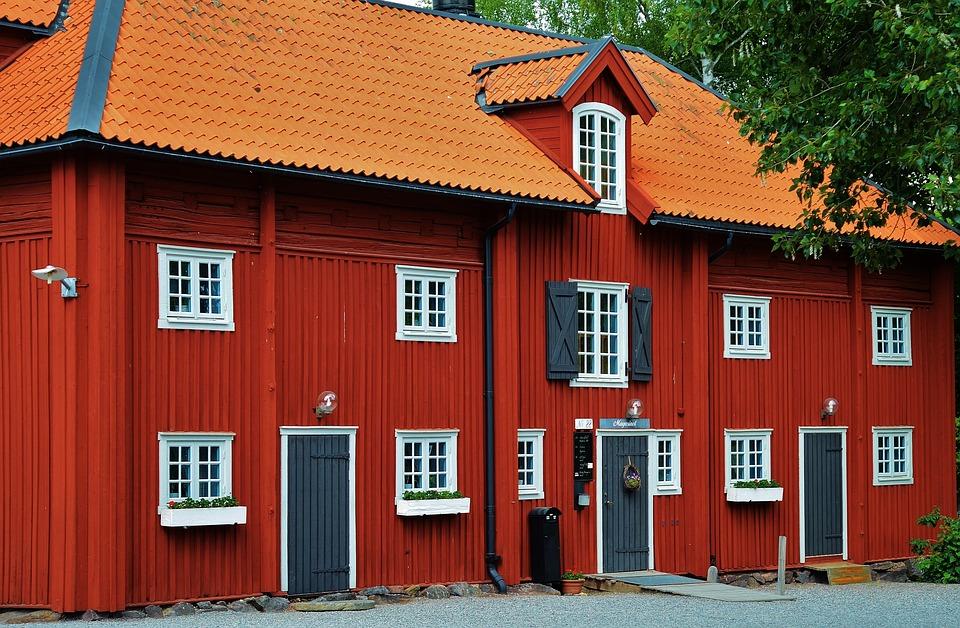Къща, Червено, Начало, Конструктор, Сграда, Архитектура