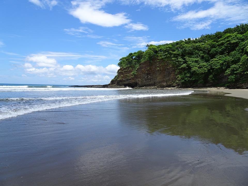 Nicaragua, San Juan Del Sur, Plage, Playa Hermosa