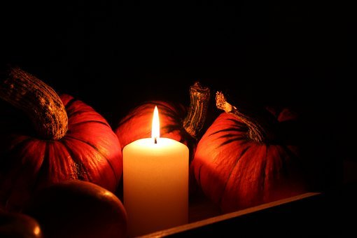 Pumpkin, Candle, Still Life, Halloween
