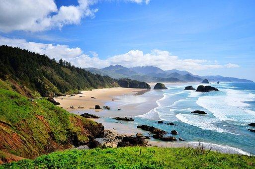 Beach, Ocean, Landscape, Sea, Water