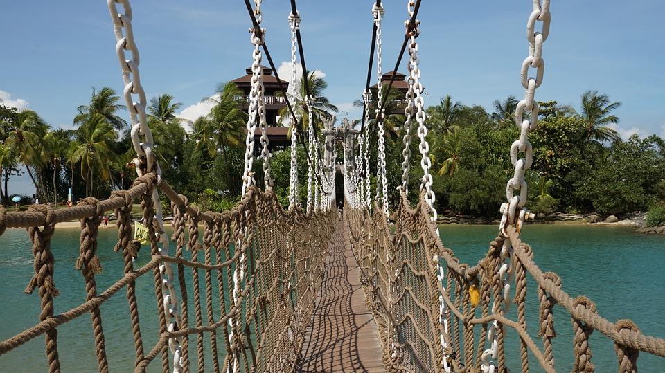 Как сделать верёвочный мост