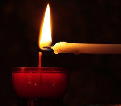Candle, Tealight, Hand, Church, Light