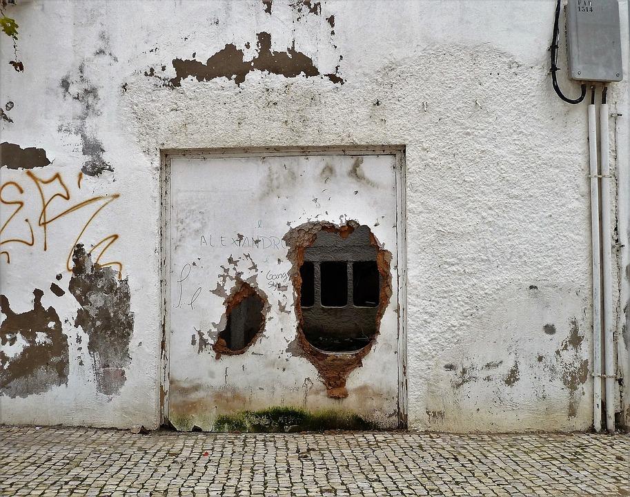Здание, Стена, Сломан, Старые Стены, Старый, Отверстие