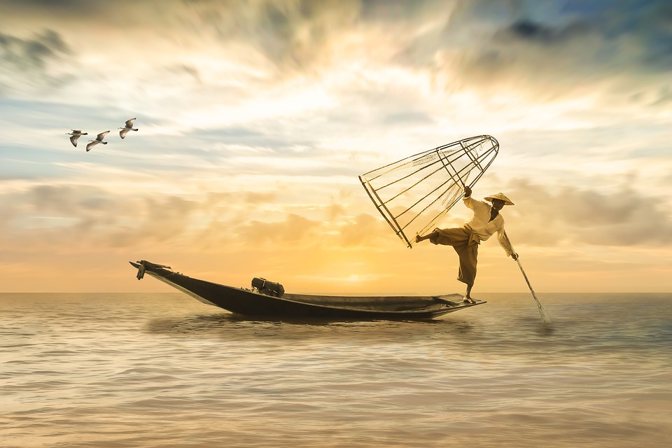 Fisherman, Fishing Boat, Boat, Fishing, Sea, Water