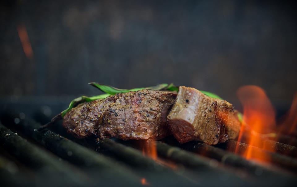 บาร์บีคิว, เนื้อสัตว์, ไฟไหม้, กิน, ปรุงอาหาร, อาหาร