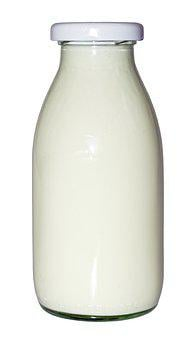 Milk Bottle, Milk, Bottle, Glass, Drink