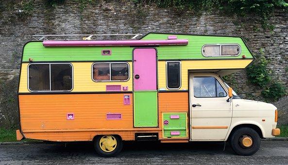 Vintage, Wohnmobile, Urlaub, Road