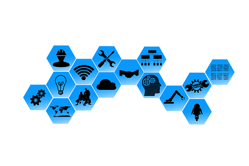 Industry 4, 0, Web, Network, Points