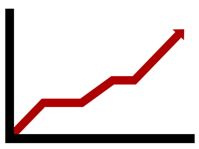 chart red arrow growth 183 free image on pixabay