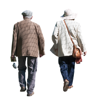 Old, Pensioners, Isolated, Man, Woman