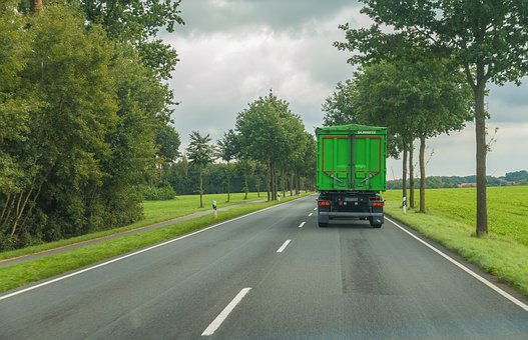 Road, Truck, Traffic, Drive, Landscape