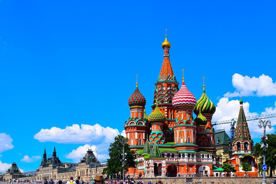 Moscow, St Basile, Red Square, Church, Old, Monument
