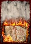 book, fire, halloween