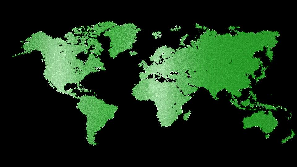 Ilustración Gratis: Mapa Mundo, Verde, Brillo, Mapa Png