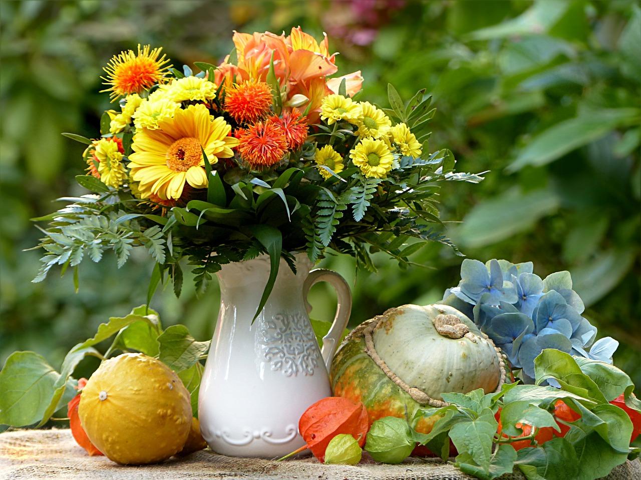 Букет осенних цветов картинка