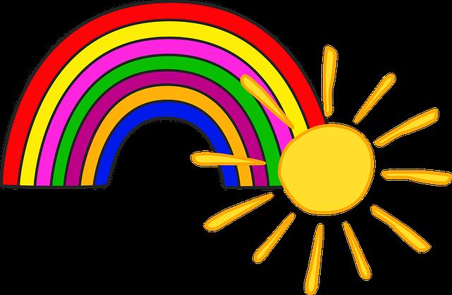 Sun Rainbow Kids 183 Free Image On Pixabay