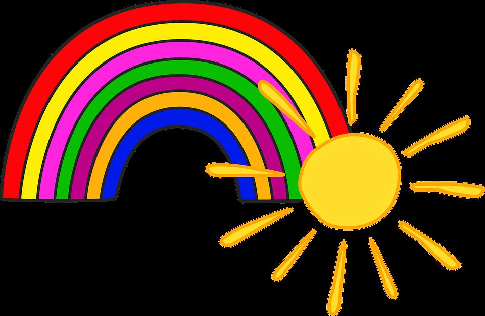 Favori Illustrazione gratis: Sole, Arcobaleno, Bambini - Immagine gratis  AR11