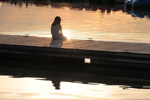 Boat Dock, Girl, Human, Child, Nature