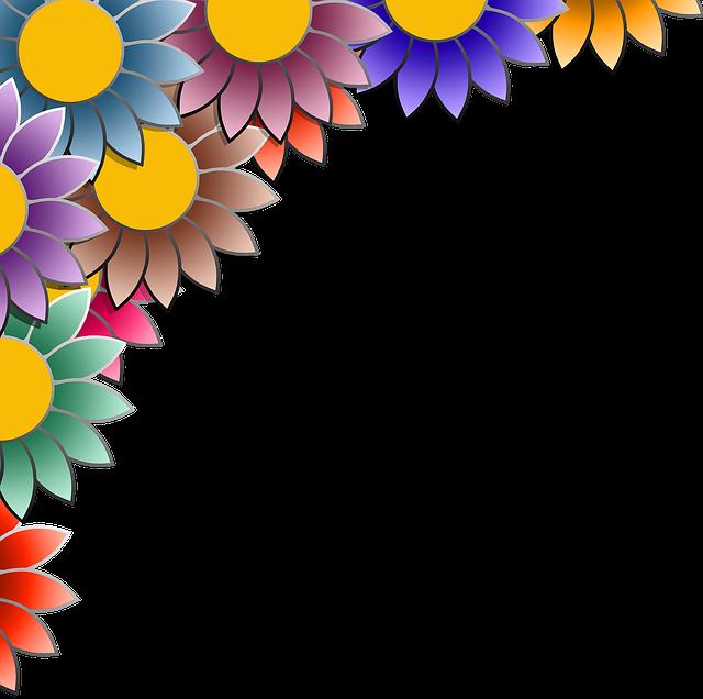 frame flower colorful 183 free image on pixabay