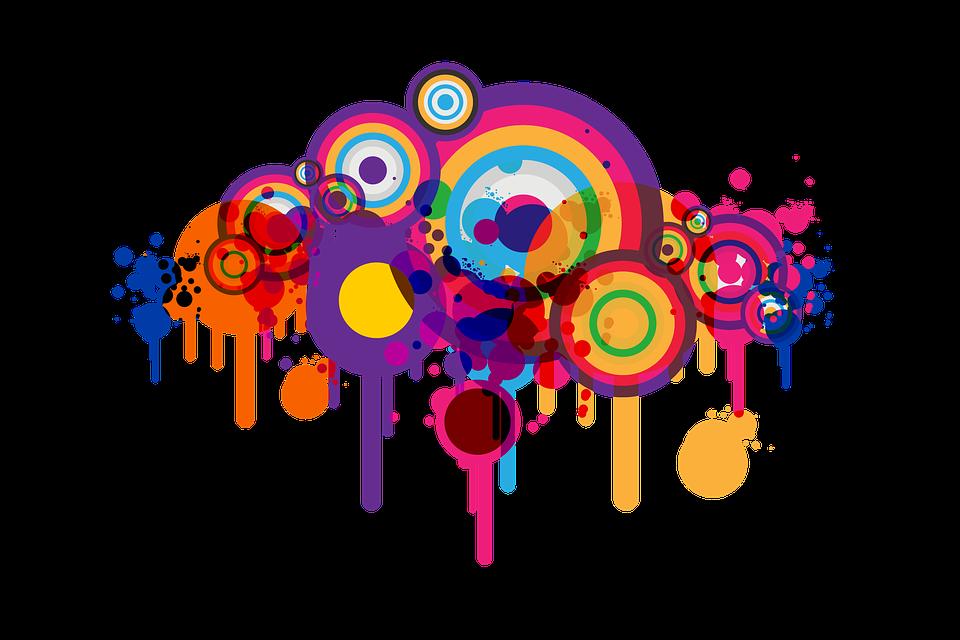 free illustration blob rings circle abstract free