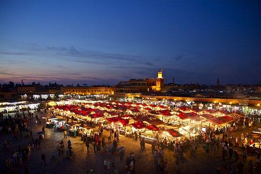 모로코, 오리엔탈, 마라 케시, 동양, 건축물, 아랍어, 장식품