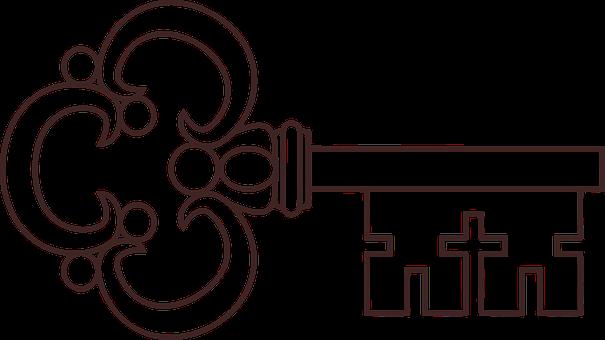 Key Lock Unlock Ornate Ornamental