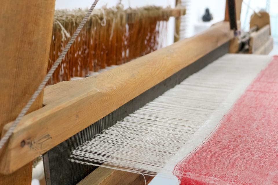 Weaving, Machine, Matter, Wood, Old, Exhibit, Russian