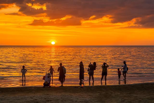 Sunset Beach Sea 183 Free Photo On Pixabay