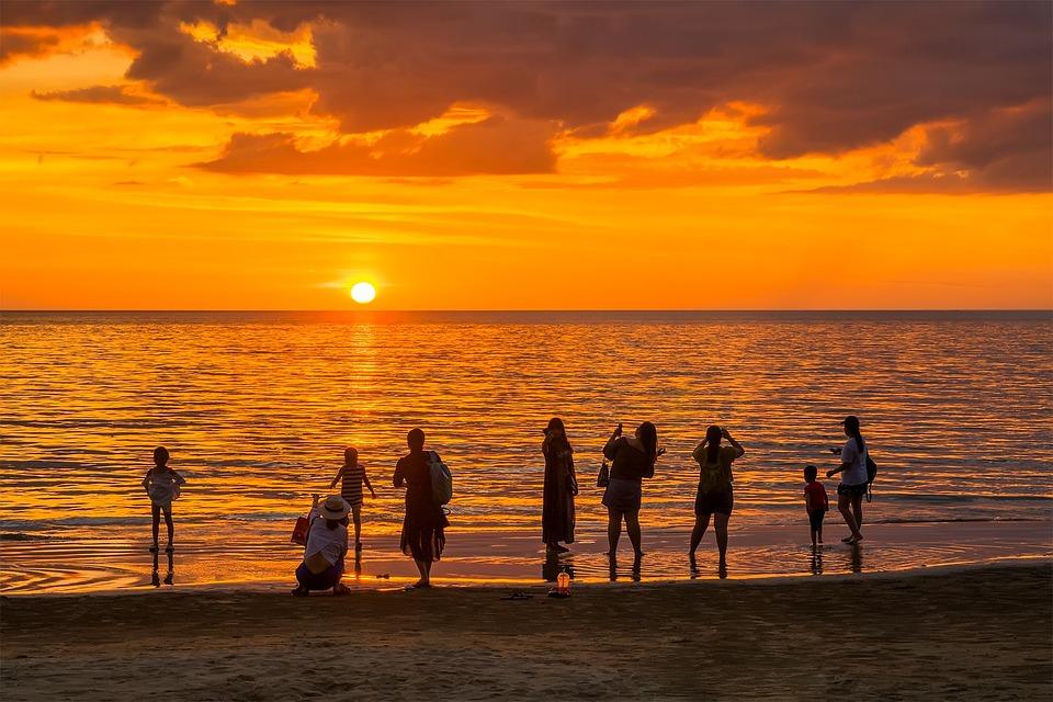sunset beach sea free photo on pixabay