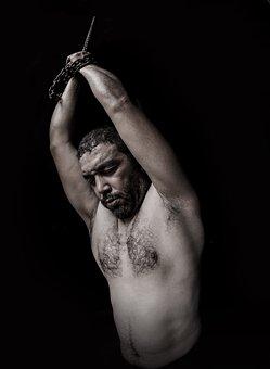 Torture, Chains, Portrait, Human, Victim