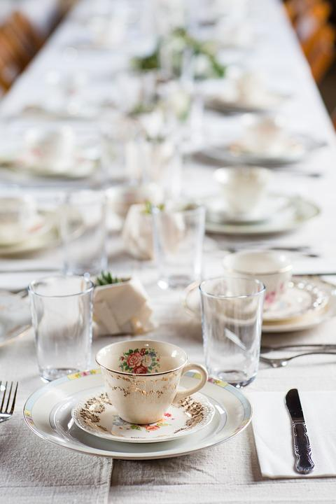 tea party table setting fancy party : fancy table setting - pezcame.com