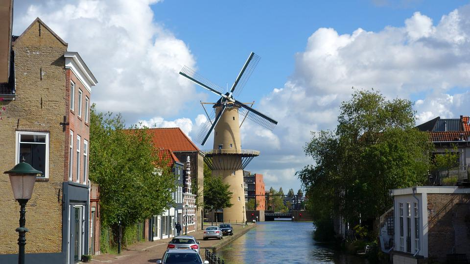 Schiedam, Moulin, Moulin À Grain, Moulin À Vent